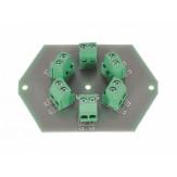 Клеммник Leiterplatte Verteilerdose Stromverteilung 6 fach