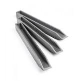 Колышек Ecopic 58x4x4 см для крепления ландшафтной ленты, серый